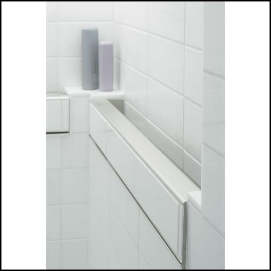belay intile handrail by kohler provides the safety and security of a shower grab