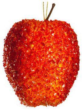 декоративное яблоко во льду  на елку