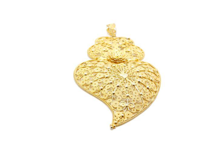 Coração Filigrana Disponível em: www.ourivesariacatita.pt  #OurivesariaCatita #Filigrana #Prata #Dourada