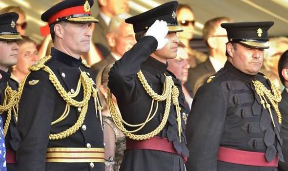 Prince William takes salute at Beating Retreat