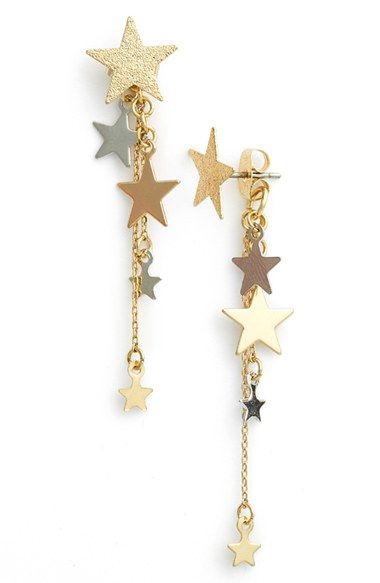 Topshop 'Star Cascade' Front/Back Earrings available at #Nordstrom