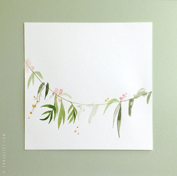 Watercolor floral garland painting by evajuliet