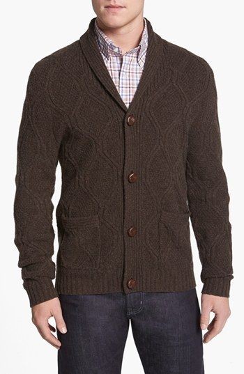 Wallin & Bros. Shawl Collar Cable Knit Cardigan available at #Nordstrom