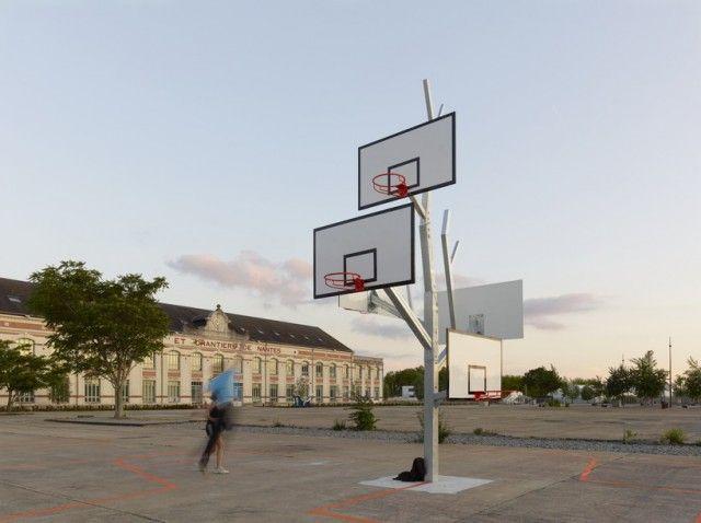basket tree: Marty Sports, Hoop Basketb, Basketball Trees, Trees Design, Streetpubl Art, Baskets Trees, Basketb Trees, Outdoor Design, Streetart Basketballtr