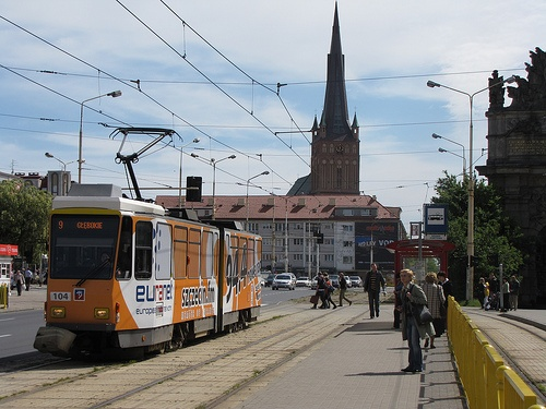 One of the tram cars here in Szczecin Poland