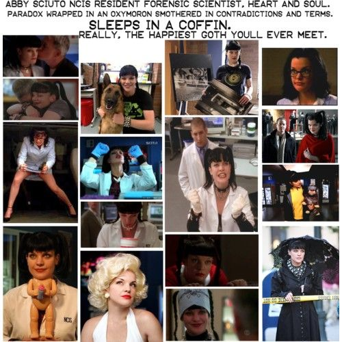 Abby Sciuto - NCIS - part of the reason I have watched this show off and on for the last 9 years is because I really like Abby and the way she interacts with the other characters on the show. Actually, I think NCIS has one of the best ensemble casts on tv.