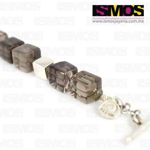 ISMOS Joyería: pulsera de plata con cuarzo ahumado // ISMOS Jewelry: silver and smoked quartz bracelet
