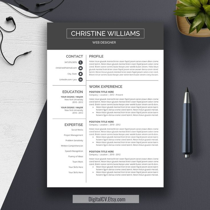 22 best Resume Templates images on Pinterest Cv template - microsoft office resume templates 2010