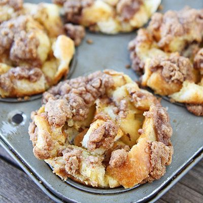Baked French Toast Muffins - refrigerate 2 hours or overnight. Special enough and a make ahead.......a great choice for Christmas morning!