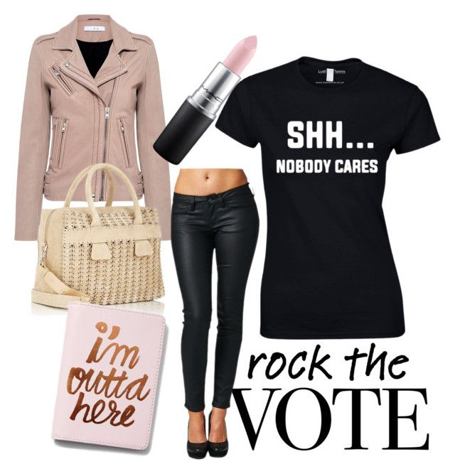"""""""Rock The Vote"""" by inauniqe on Polyvore featuring IRO, Paco Rabanne, Express and MAC Cosmetics"""