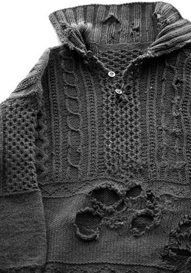 Aran Island original sweater design | Holes | Knitted