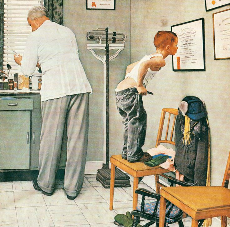 Norman Rockwell   I can't believe this is still hanging in many of the older family physician offices!  Timeless!