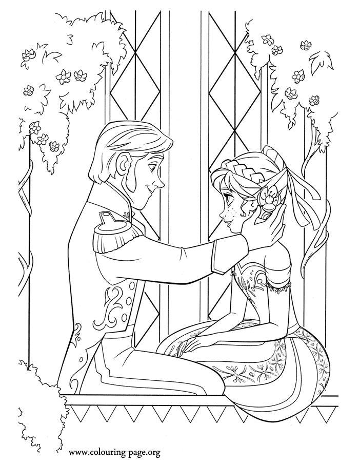 Coloring Pages Disney Princess Frozen : 17 best images about disney frozen coloring pages on pinterest