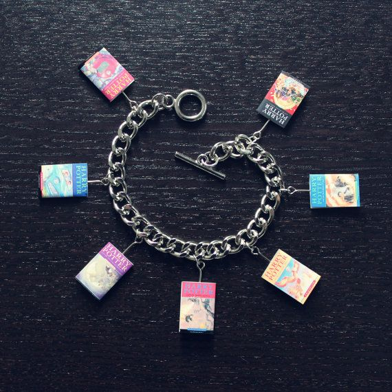 Harry Potter Book Toggle Charm Bracelet by babua on Etsy, $13.00