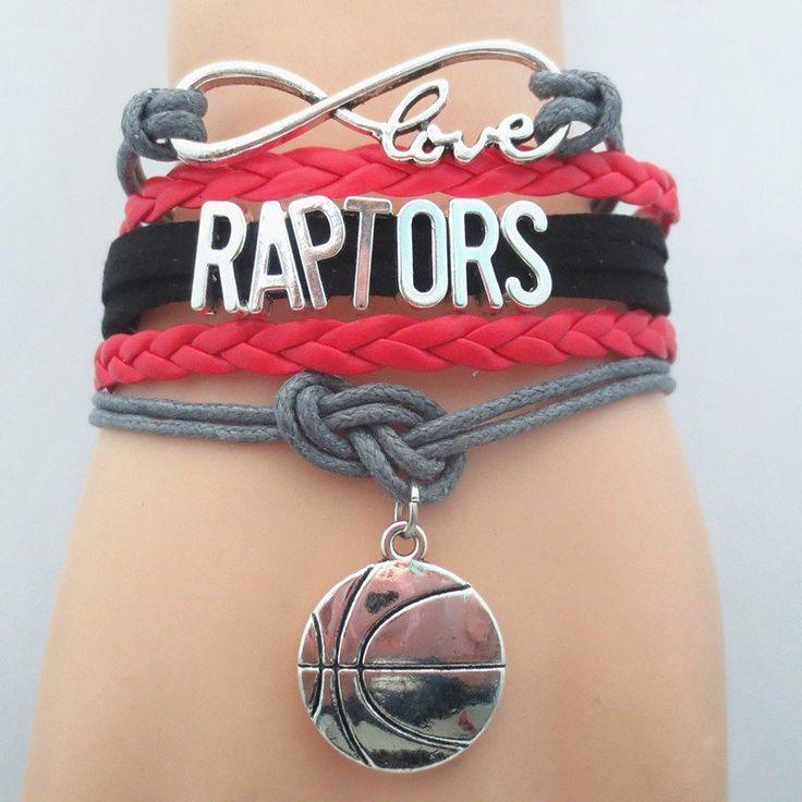 Raptors Infintiy Love Basketball Bracelet