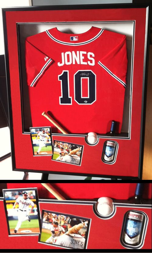 get inspired by this personalized custom framed baseball jersey and memorabilia the great frame up
