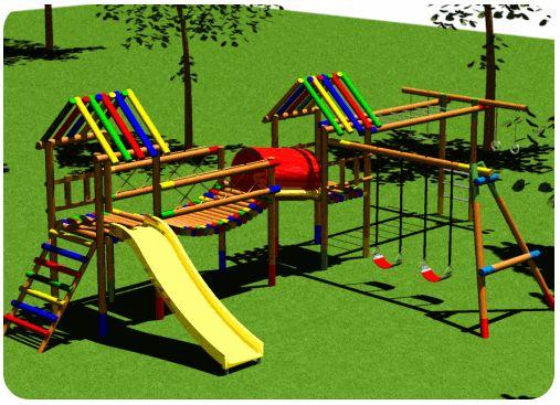 Juegos infantiles de madera para jardin buscar con for Casas para jardin infantil