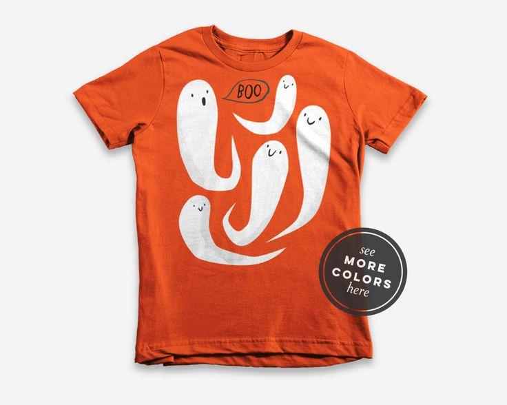 Love these Halloween shirts!!!   ghost school halloween tee, kids halloween t shirt, toddler ghosts shirt, modern kid shirt, unisex graphic tee, gray grey orange black pink by IkeStudio on Etsy https://www.etsy.com/listing/461590296/ghost-school-halloween-tee-kids