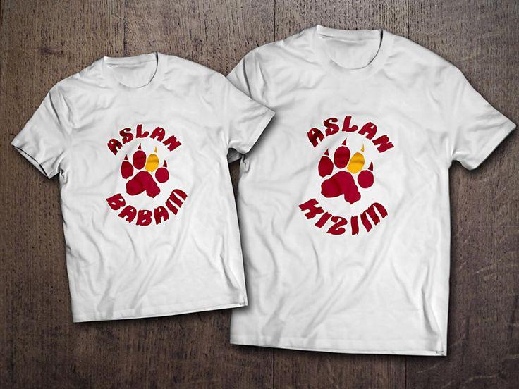 Aslan pençesi Babam ve oğlum tshirt 59,99TL