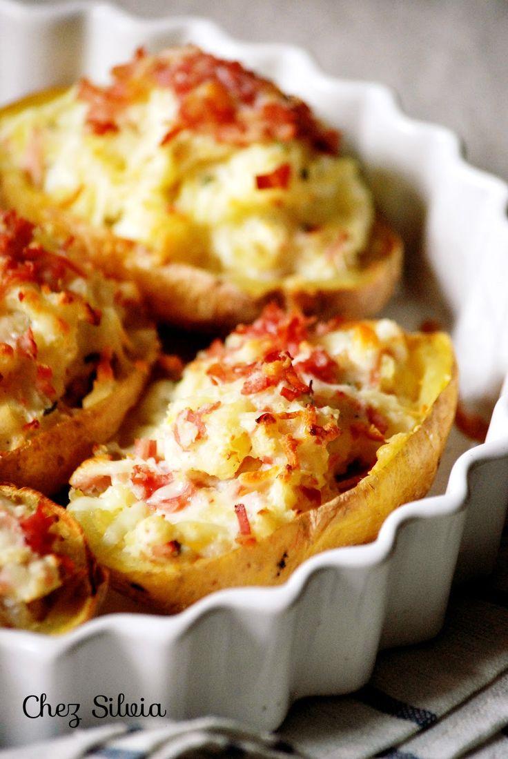 Patatas rellenas de queso ricotta y jamón york / Chez Silvia