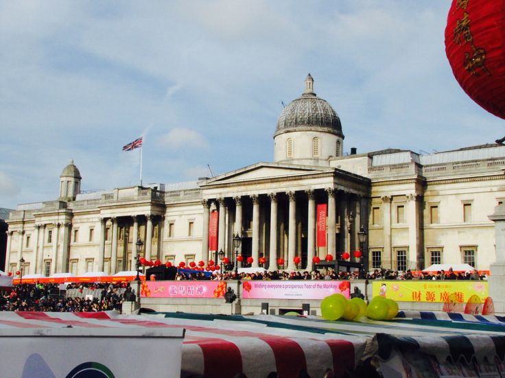 England, London 14-2-2016 Trafalgar Square during the celebrations for the Chinese New Year
