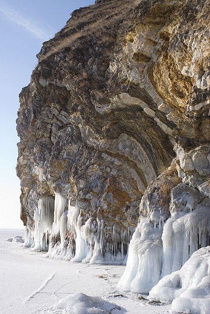 Ice of Lake Baikal, Russia