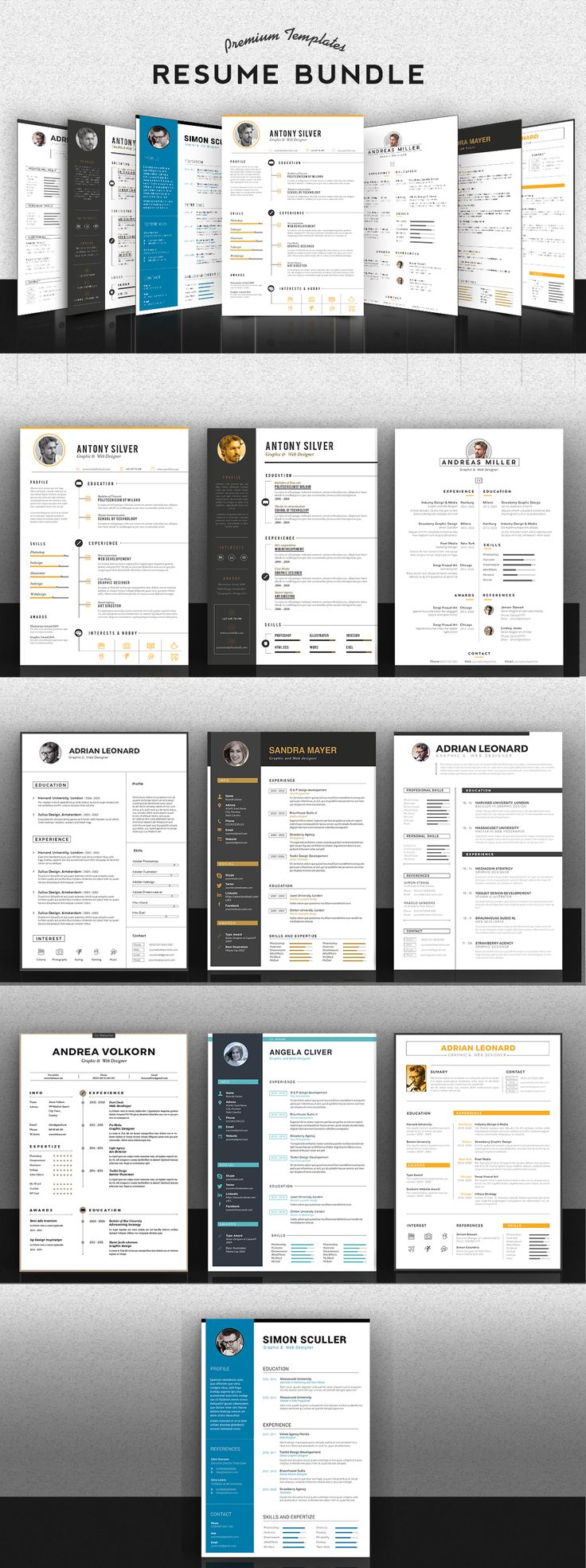 images about resume shops creative and minimal premium resume bundle
