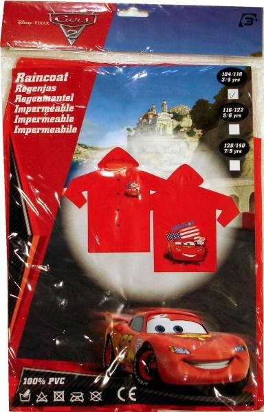 Haine Copii - Pelerina de ploaie oficiala Disney Pixar Cars cu Fulger, 100% PVC.