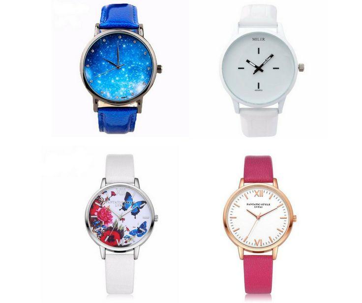 """Trop tard ? L'avenir sera fait de ce que vous en ferez """" ⏳🕓 Mesdames que pensez-vous de ces 4 horloges ? Nous les avons spécialement sélectionnées pour vous 😉 ✔️N'oubliez pas d'aller liker note page facebook 😍😍"""