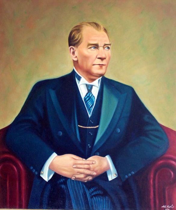 Muhsin Kokturk Adli Kullanicinin Ataturk Un Yagli Boya Resimleri Panosundaki Pin Fotograf Resim Yagli Boya Resimler