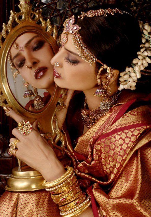 The eternally beautiful Rekha.