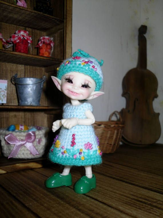 Crochet and embroidered dress and hat for by LittleGiftCove