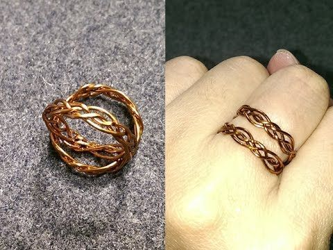 Celtic knot ring - How to make wire jewelery 228 - YouTube