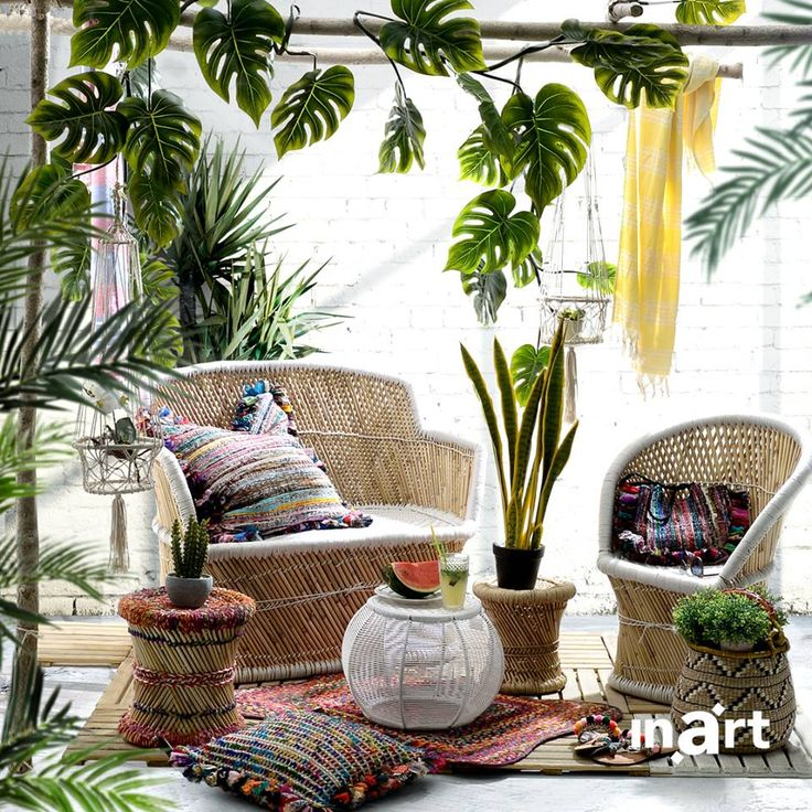 Charming summer evenings, the ones you never want to end, start at inarts new, beautiful sofa and chair set. Discover more here www.inart.com