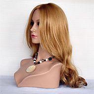 Kvinder Blondeparykker med menneskehår Ekte hår Blonde Forside 130% tetthet Krop Bølge Parykk Jet Svart Svart Mørkebrun Medium Brun – NOK kr. 1.099