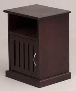 PHOENIX PINE PEDESTAL LEFT - WALNUT *M* | House & Home