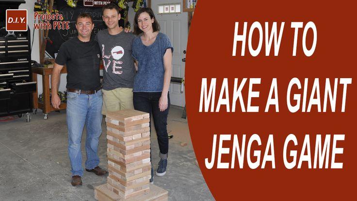 how to make an outdoor jenga set