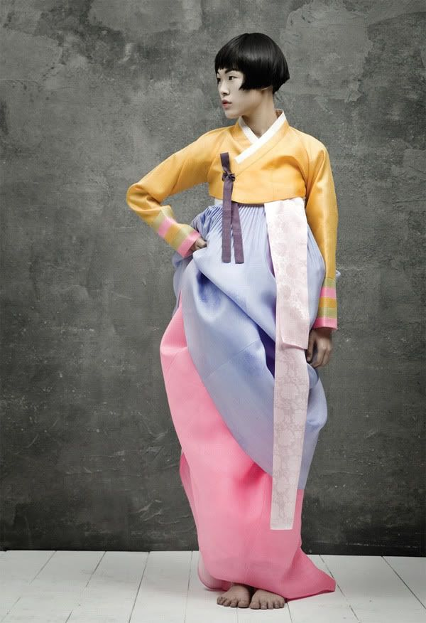Hanbok, Korean traditional costume. Vogue