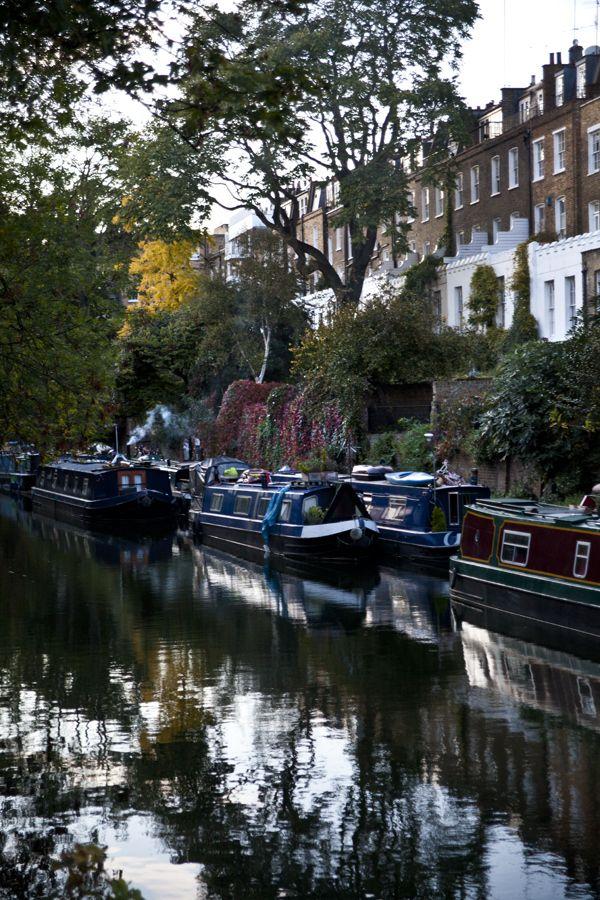 The Regents Canal, Islington, - back of Noel Road,London