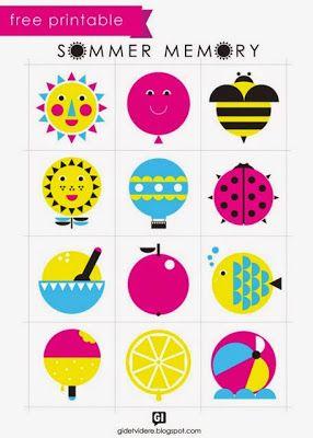 Actividades para Educación Infantil: Manualidades para el verano - 6 Memory veraniego