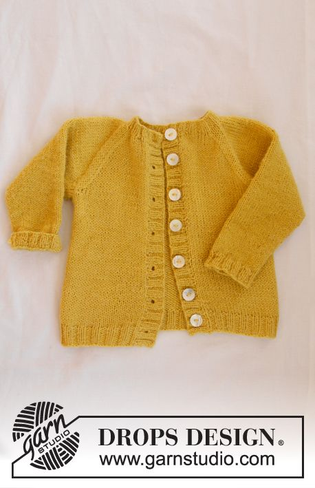 The set consists of: Knitted baby jacket with raglan and socks. Sizes premature - 4 years. The piece is worked in DROPS Alpaca.