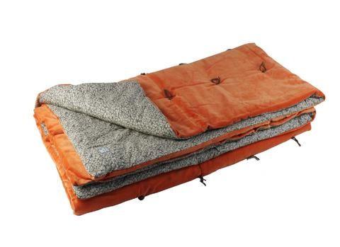 En-fil-dindienne - Bout de lit velours Tosca - Orange - 90x200 cm - Home Beddings and Curtains