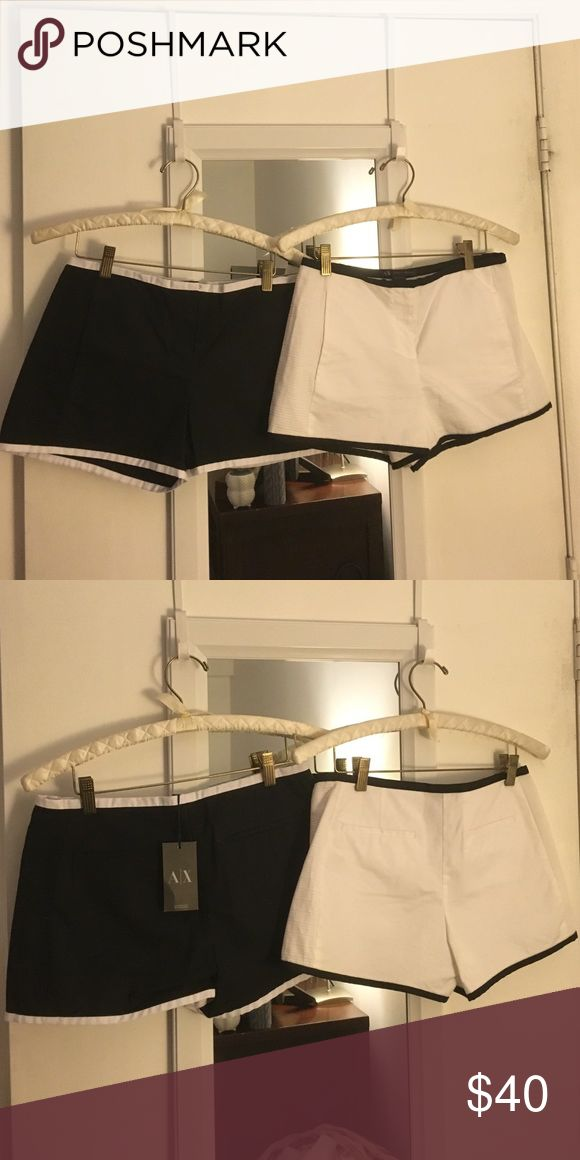 Armani Exchange shorts set Black is brand new, white worn only once! A/X Armani Exchange Shorts