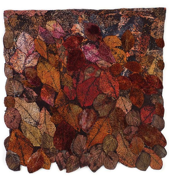Leaf Cloth series. Distressed and manipulated fabric designs by Lesley Richmond, Canada