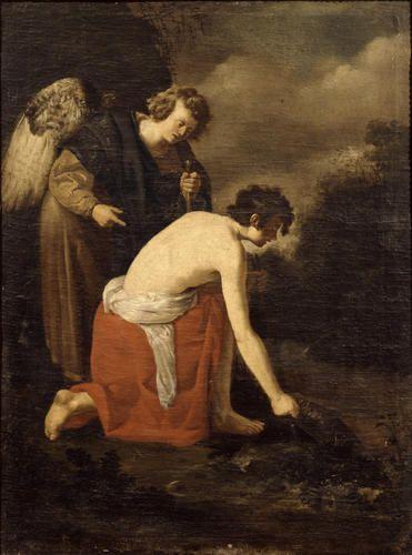 Pittore ambito romano (?) - Tobiolo e l'arcangelo Raffaele (copia da Domenico Fetti) - 1615-1620 -Accademia Carrara di Bergamo Pinacoteca