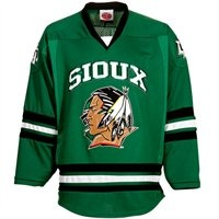 North Dakota Tackle Twill College Hockey Jersey - Green
