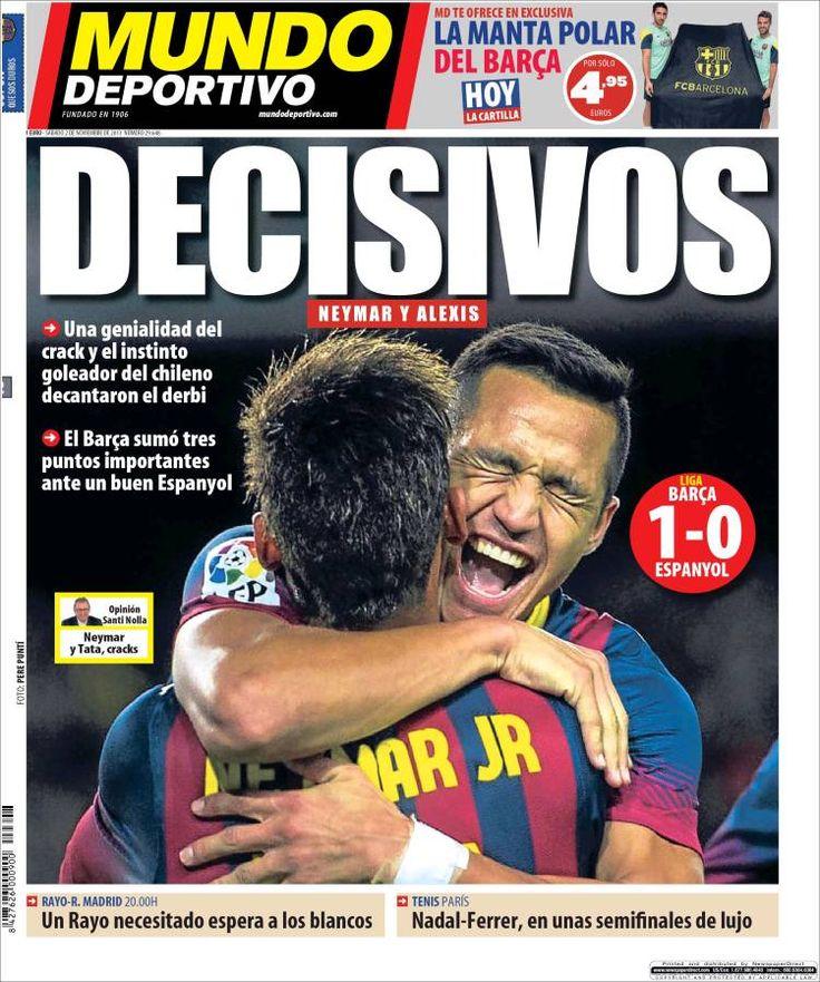 Los Titulares y Portadas de Noticias Destacadas Españolas del 2 de Noviembre de 2013 del Diario Mundo Deportivo ¿Que le pareció esta Portada de este Diario Español?