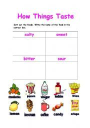 sense of taste worksheet - Google претрага