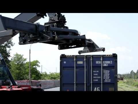 Transport towarów koleją - transport intermodalny - film dydaktyczny