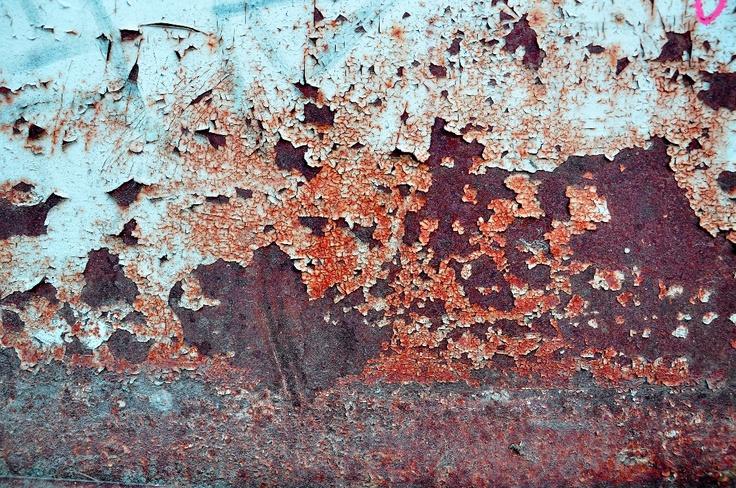 Stunning weathered rusty metal textures